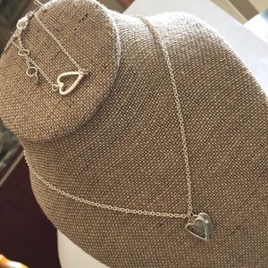 Take Heart Necklace and matching Bracelet